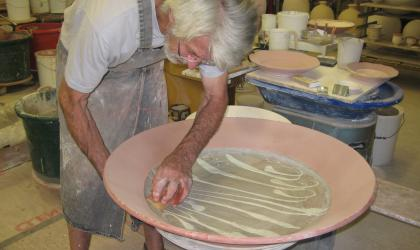 David Making large platter